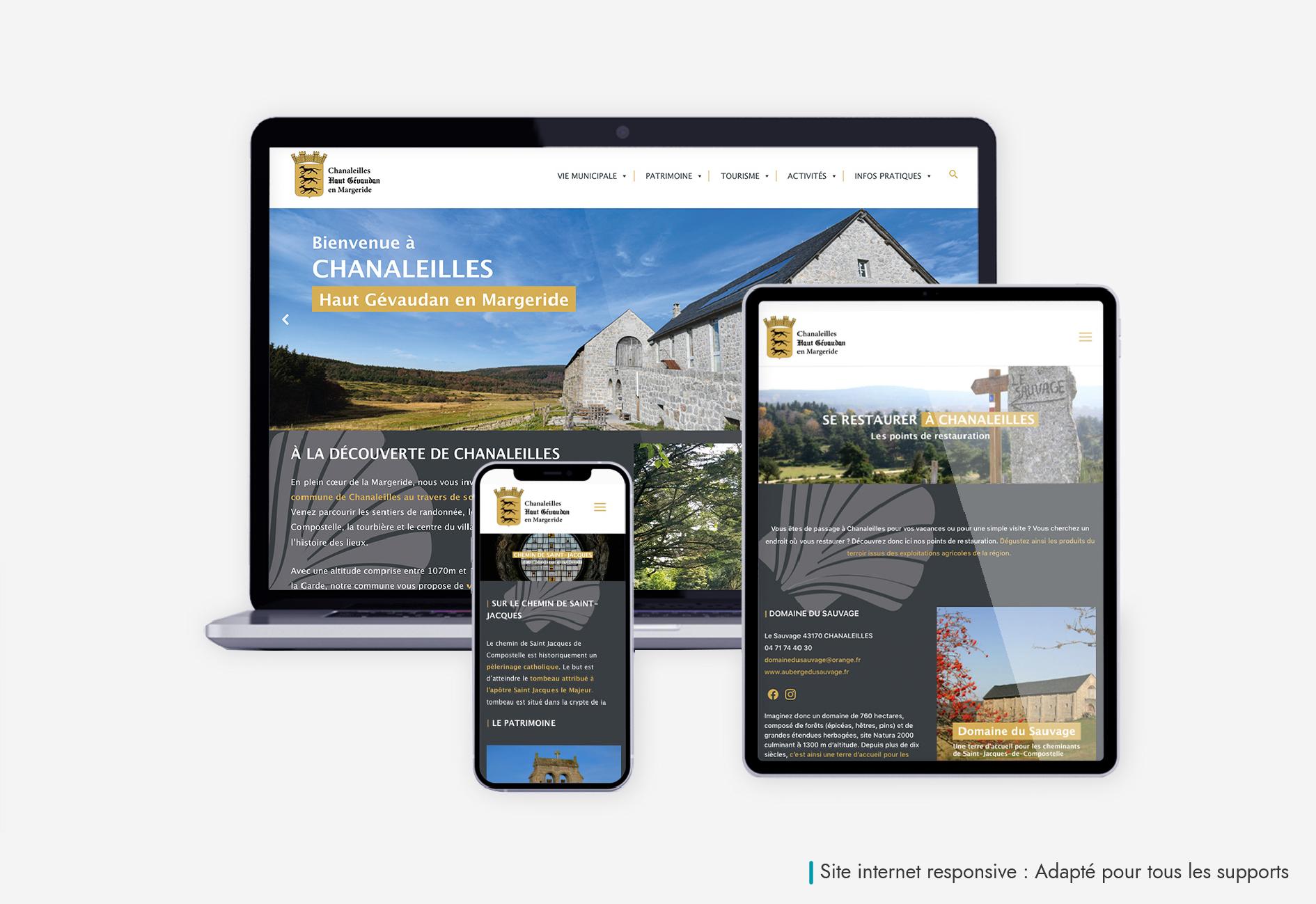 Mairie Chanaleilles-Site internet